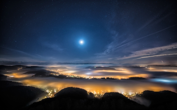 Photo taken from Uetliberg by  Dominic Kamp, 2012